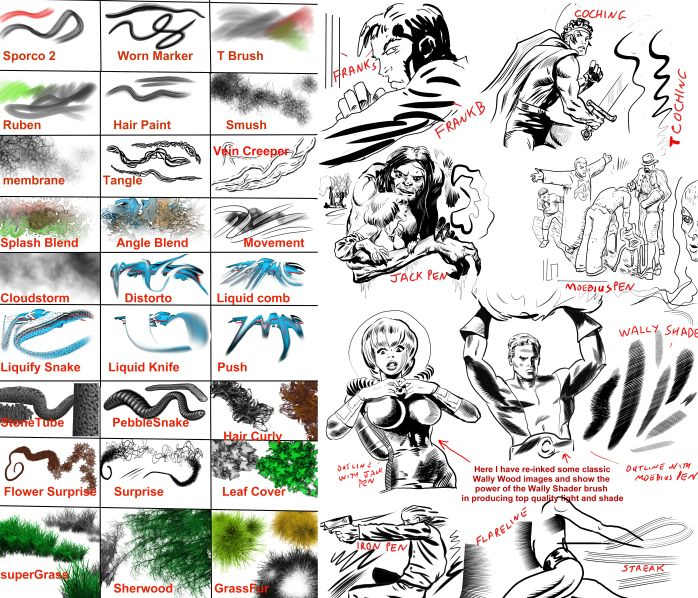 Manga Studio  -& Clip Studio Set 3   - 120  Extra Tools and brushes collection 3