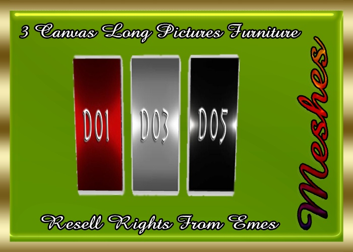 3 Canvas Long Pictures Furniture Catty Only!!!