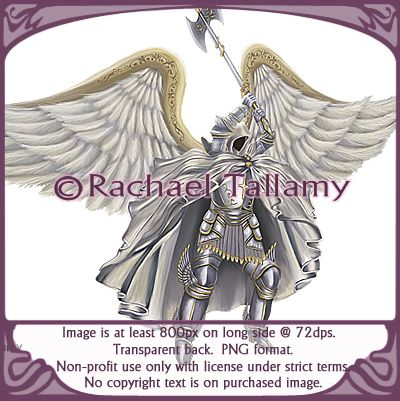 Archangel Michael- Non-profit only with licensed use from rtallamy.com.  Copyright-Rachael Tallamy