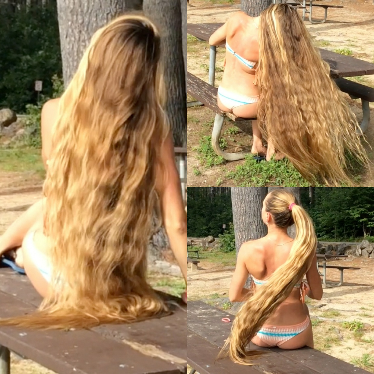 VIDEO - Rapunzel at the bench
