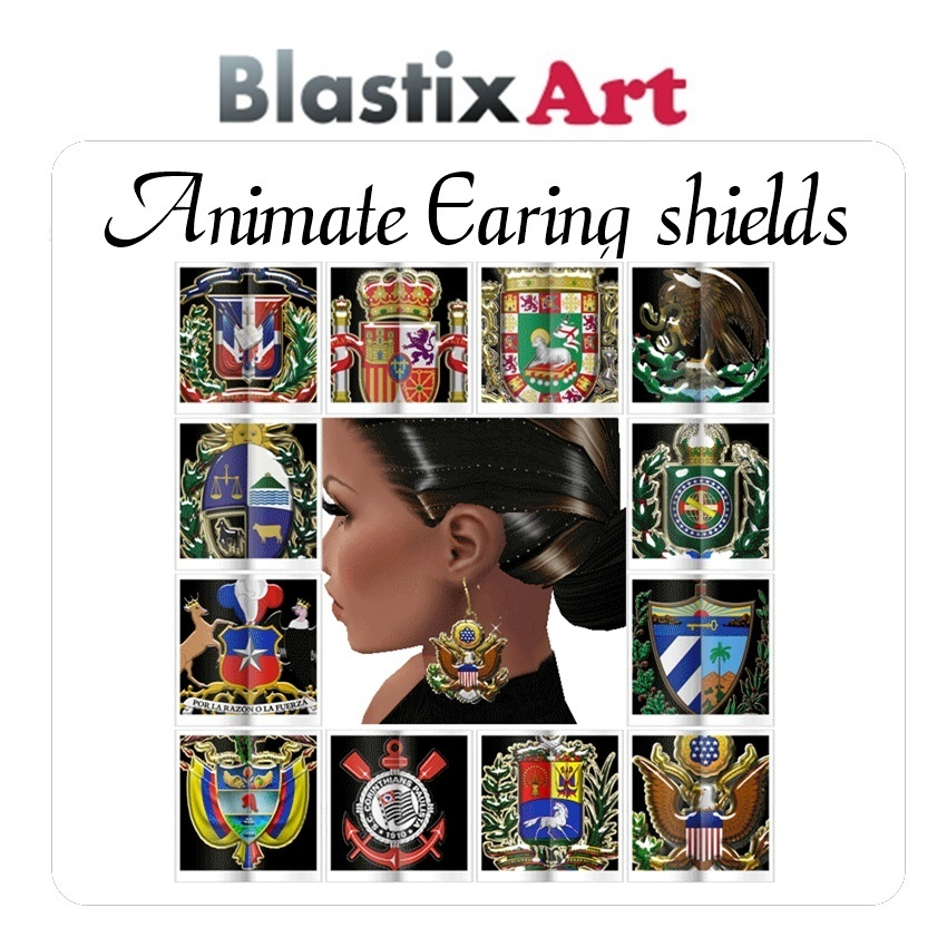 The  Animates  Sparkle  Shield Earings