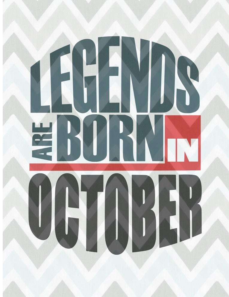 Legends are born in October SVG
