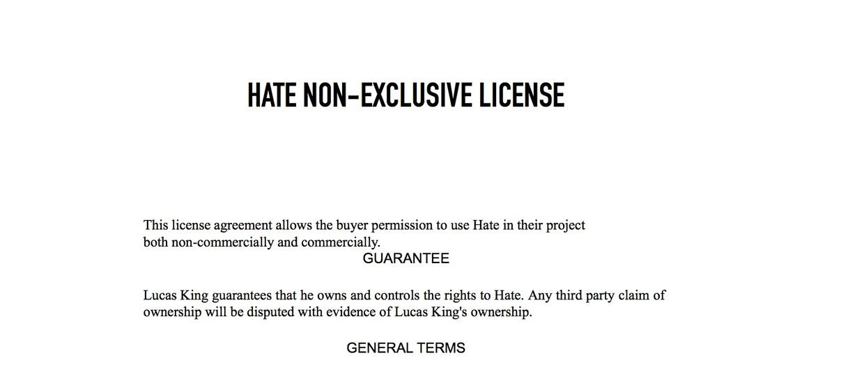 Dark Piano - Hate License