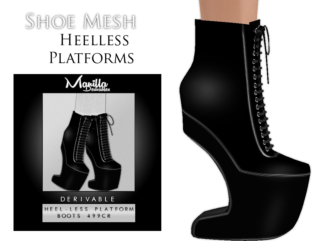 IMVU Mesh - Shoes - Heelless