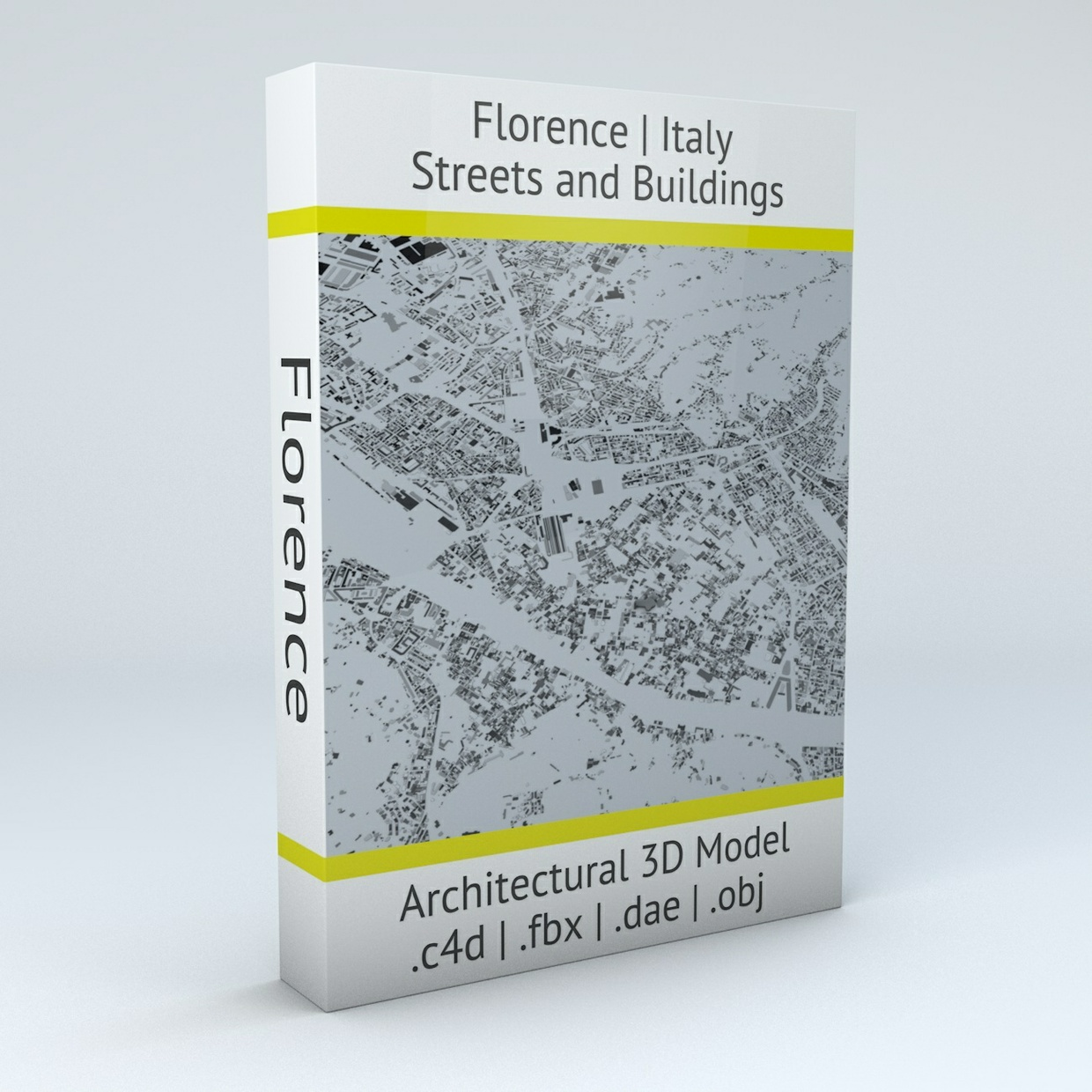 Florence Streets and Buildings Architectural 3D Model