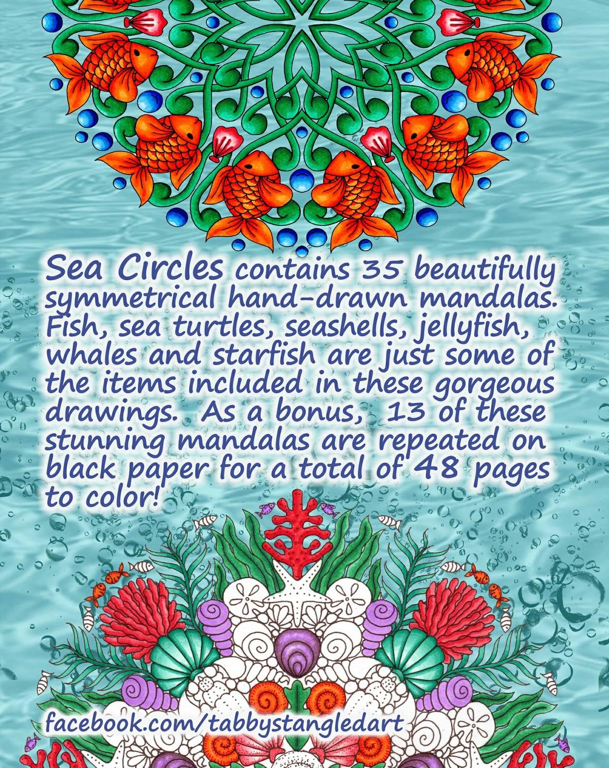 Sea Circles Adult Coloring Book PDF