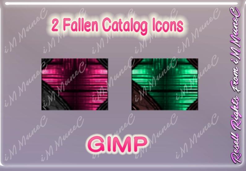 2 Fallen Catalog Icons GIMP (Halloween)