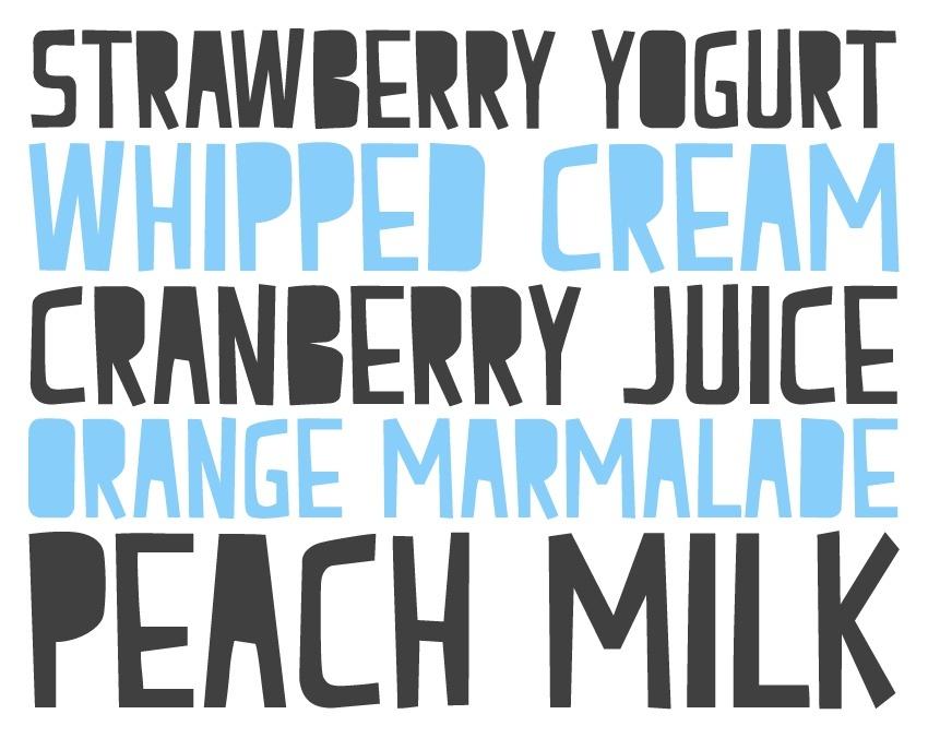 Peach Milk Font