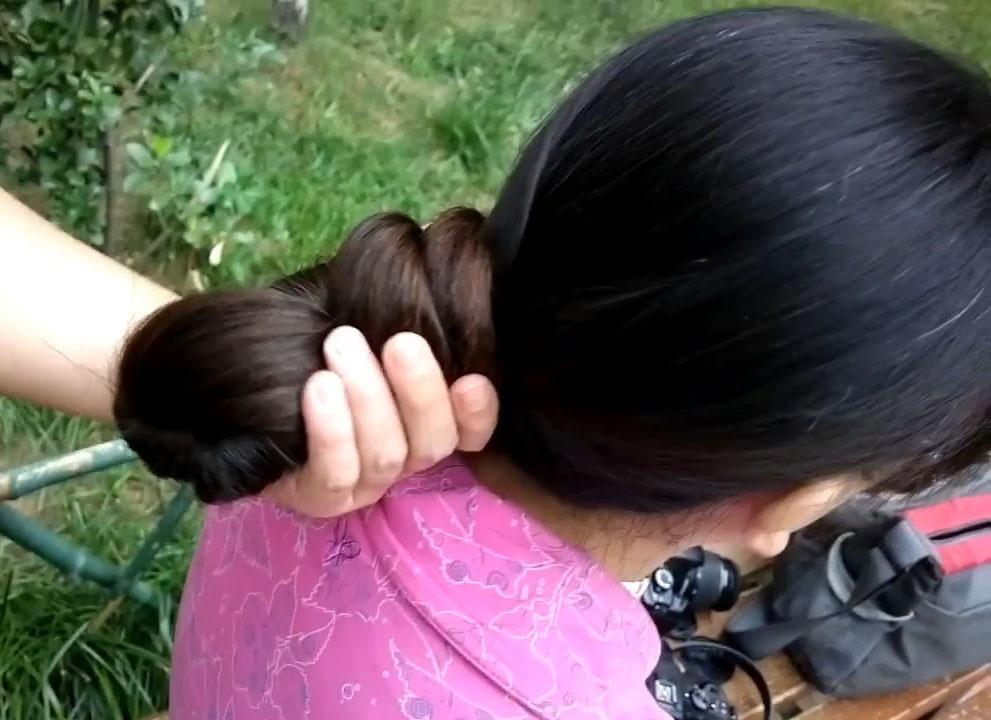 Shy girl's haircut