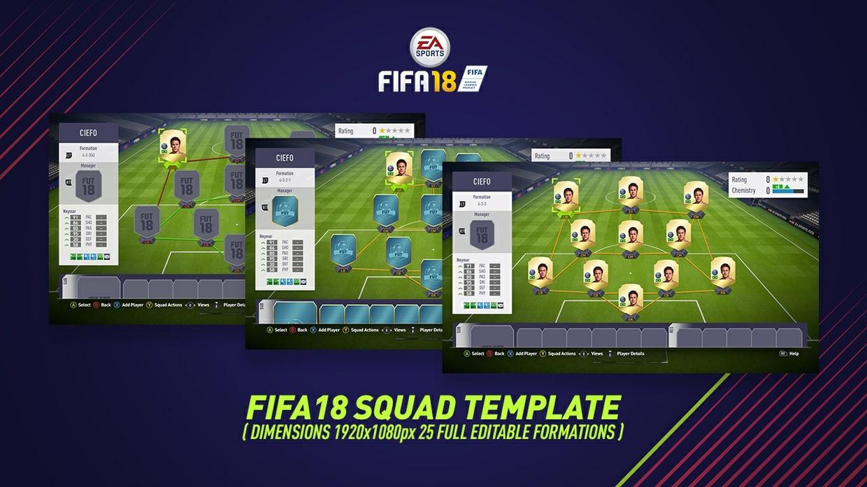 FIFA 18 SQUAD TEMPLATE