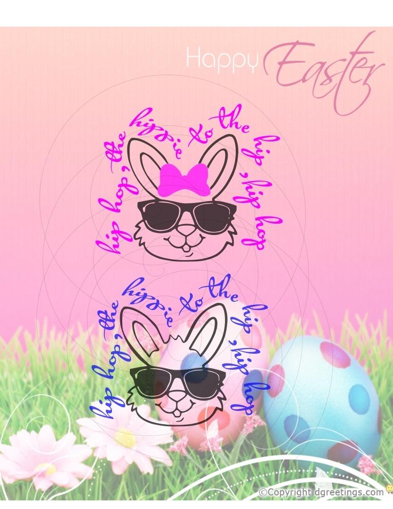 Hip Hop Bunny SVG- SVG only