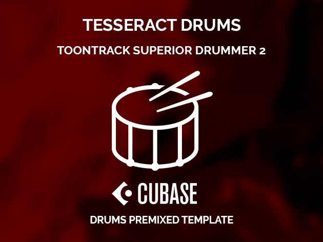 Superior Drummer 2 Tesseract style / Cubase Project + SD2 Preset