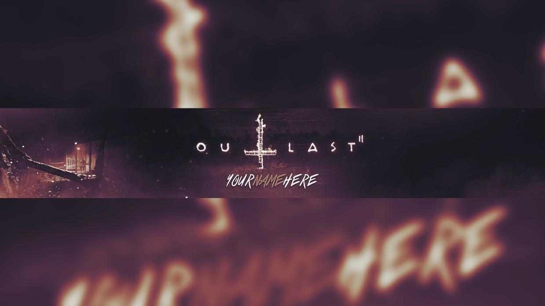 Outlast 2 Banner Template