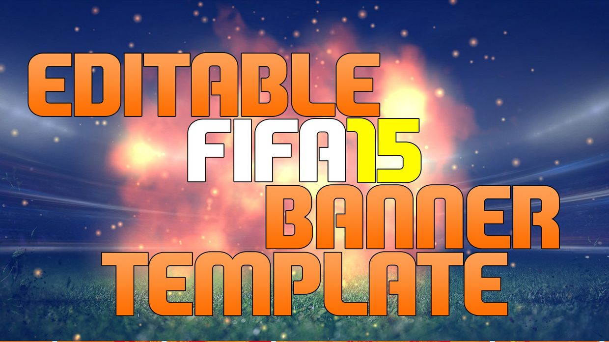 Fifa 15 - Editable Banner template! | CraigzDesigns - Sellfy.com