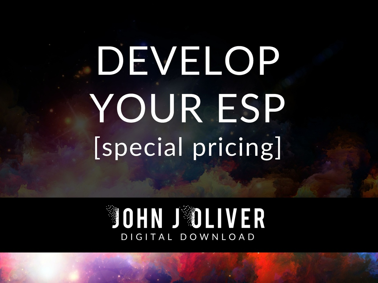 JOHN J OLIVER  |  Develop Your ESP [Special Pricing]