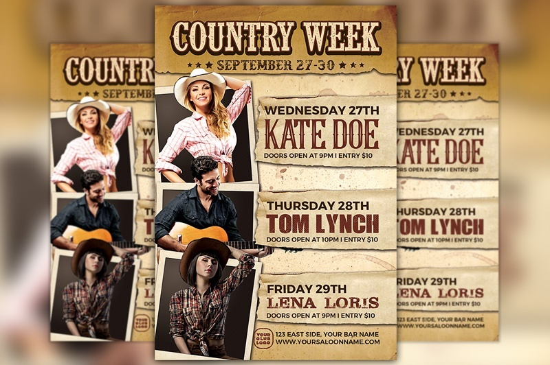 Country Week Flyer Template
