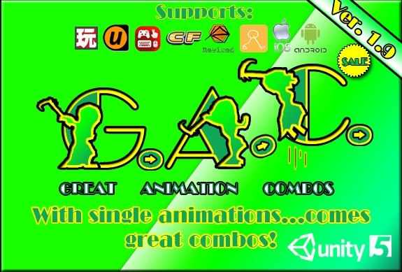 GAC (Great Animation Combos) System for Unity3D