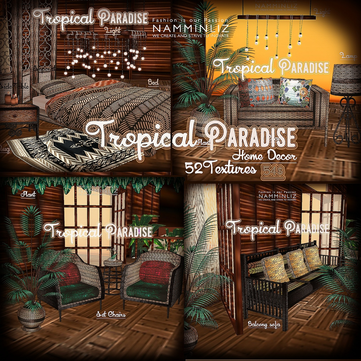 Tropical Paradise Home Decor 52 Textures Limited To 4