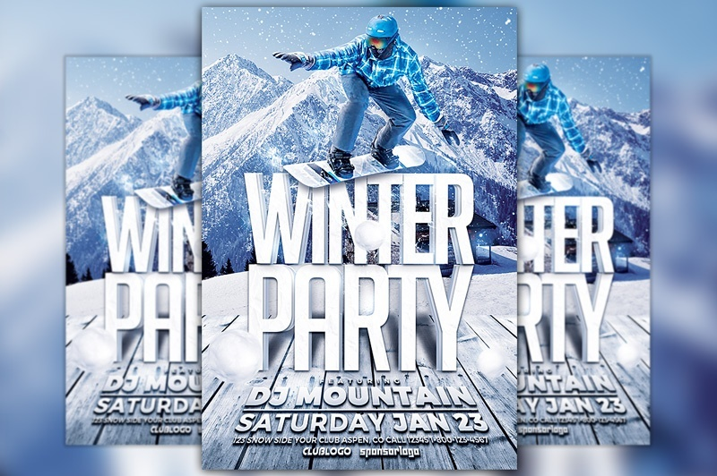 Winter Party Flyer Template Vol. 3