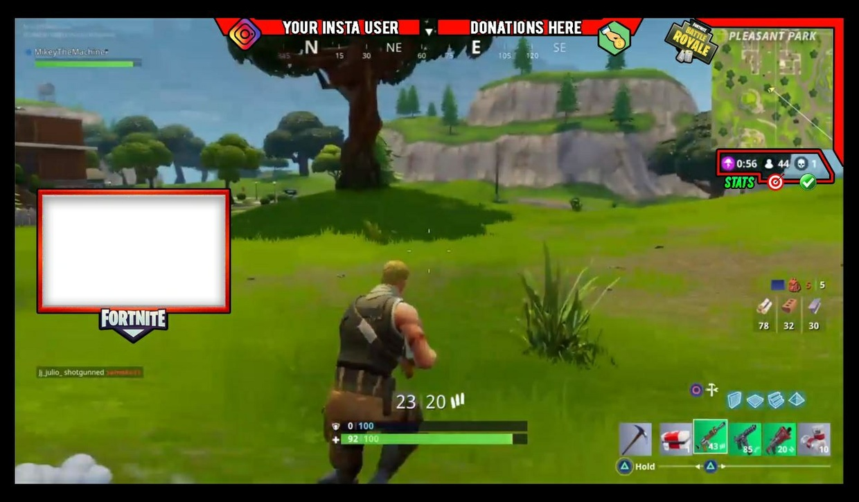 FORTNiTE Overlay Template - Easy To Use