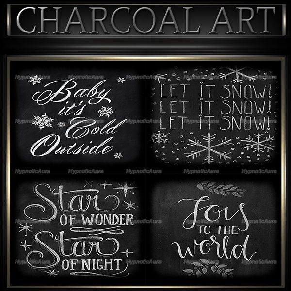 A~CHARCOAL ART-30 TEXTURES