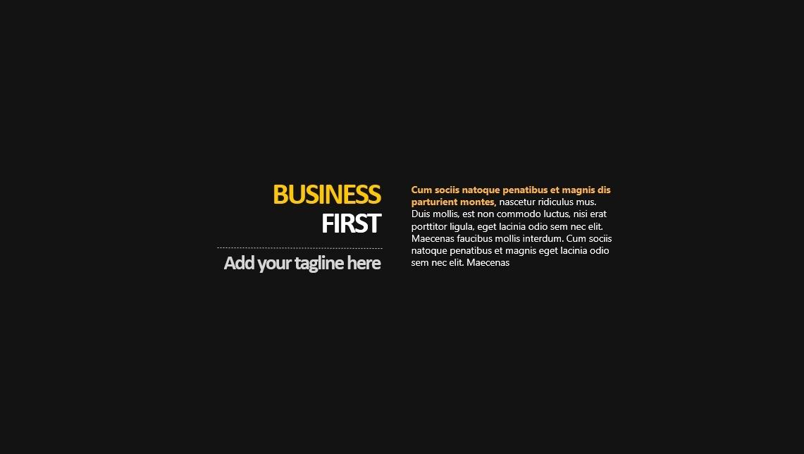Business First PowerPoint Presentation Template
