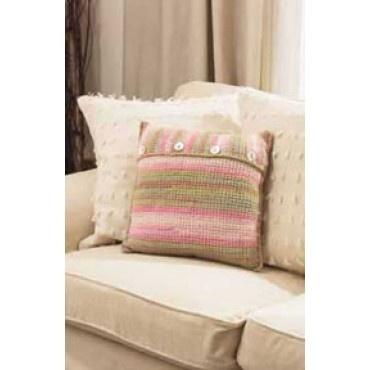 Felted Crochet Cushion