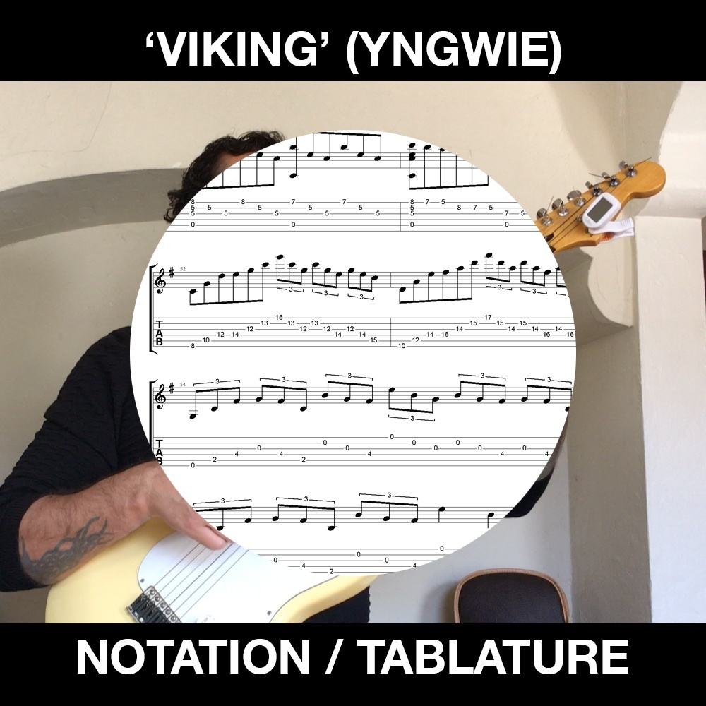 VIKING (Yngwie Malmsteen) Classical Guitar arrangement - Ben Woods - Nylon String Stratocaster