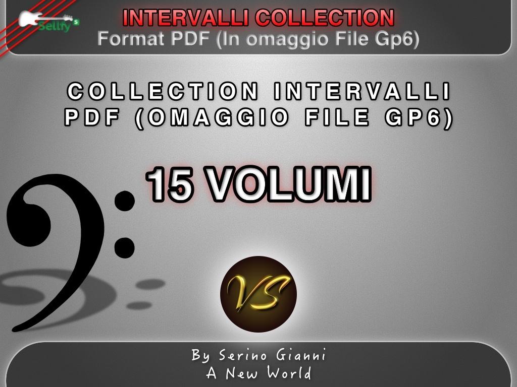 COLLECTION - COMBINAZIONI INTERVALLARI . PDF FORMAT (IN OMAGGIO FILE GP6)