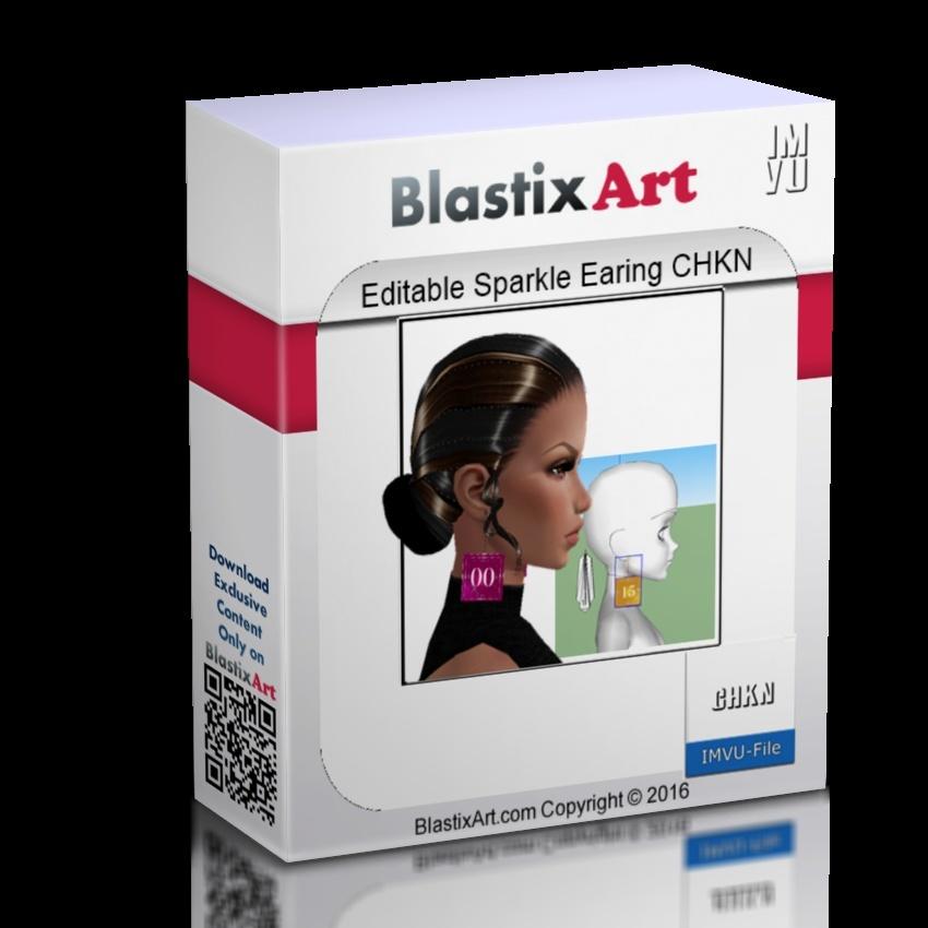 Editable Sparkle Earing CHKN