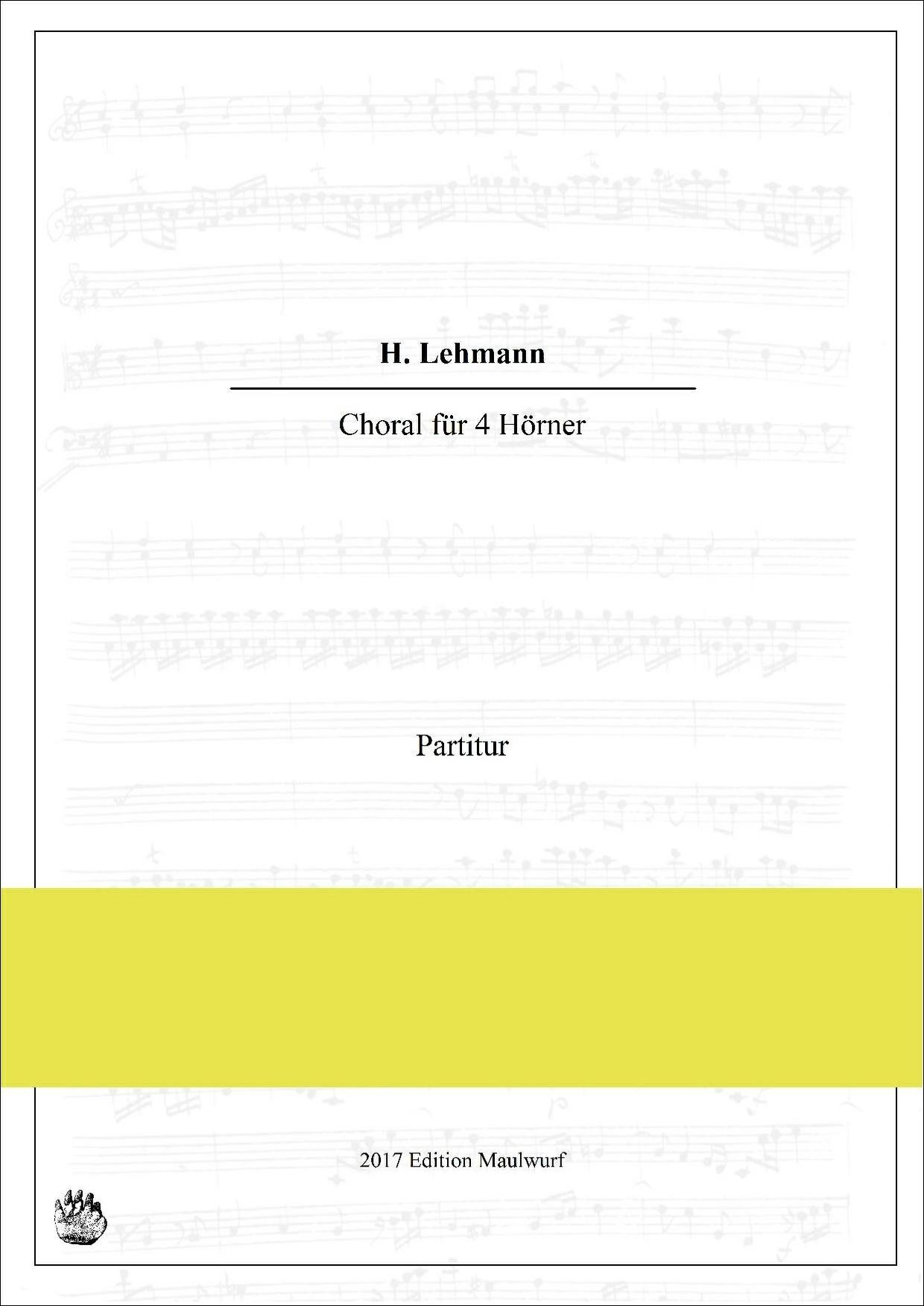 H. Lehmann Choral für 4 Hörner