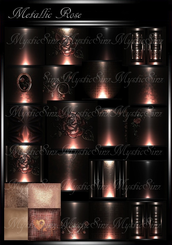 Metallic Rose Room Textures
