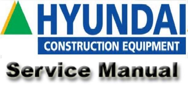 Hyundai R55-7 Crawler Excavator Service Repair Workshop Manual