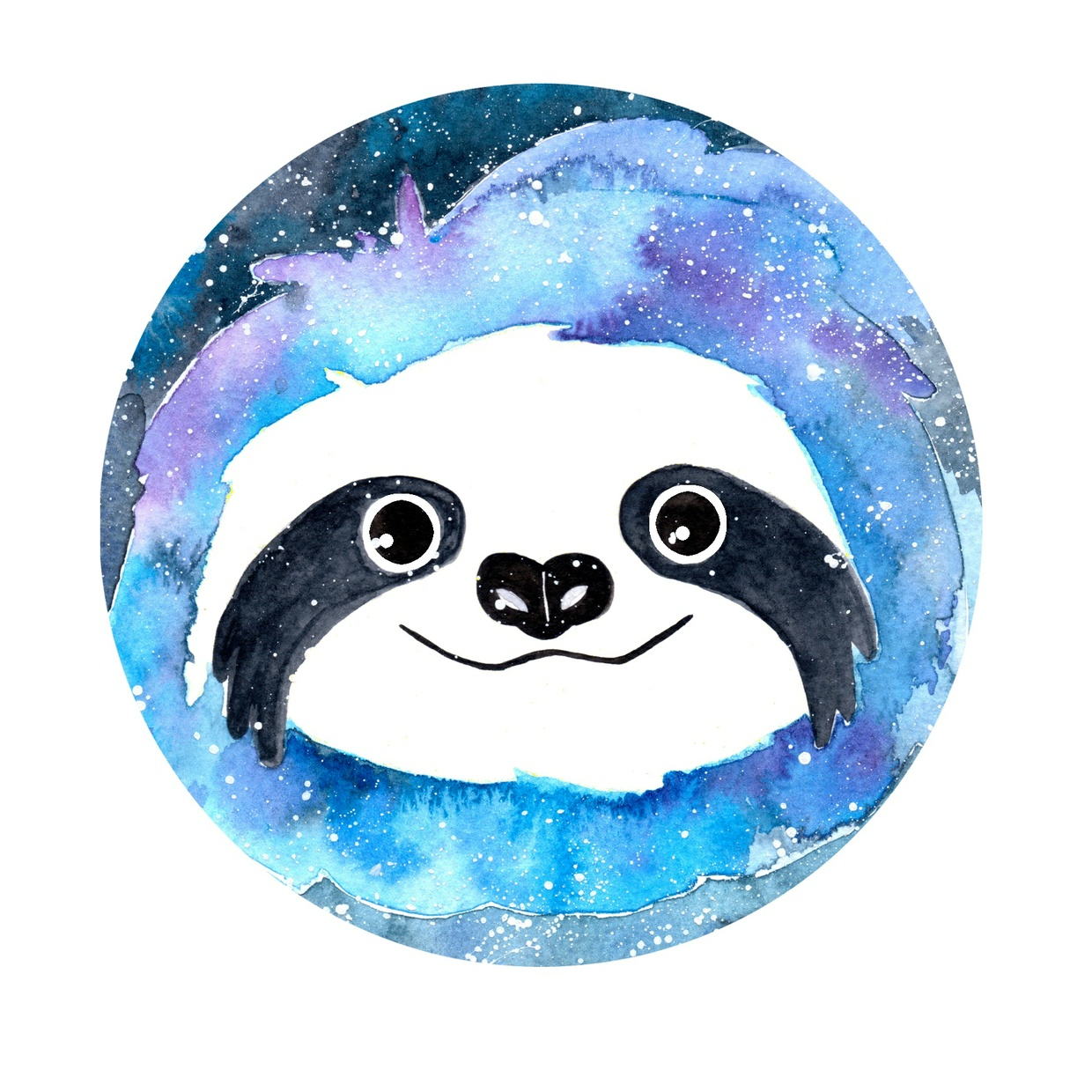 Gary the Galaxy Sloth Art Print