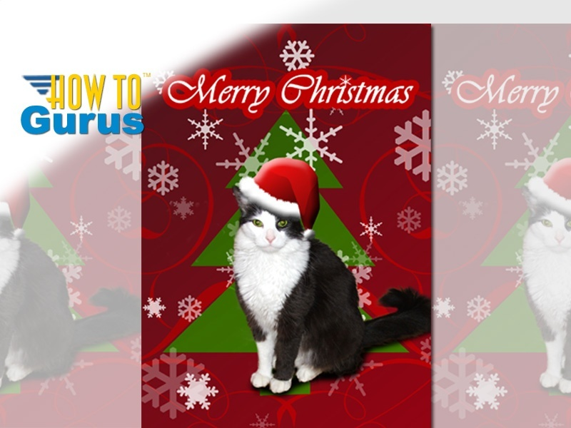 How to put Your Pet into a Christmas Card with Photoshop Elements 11 12 13 14 Tutorial.