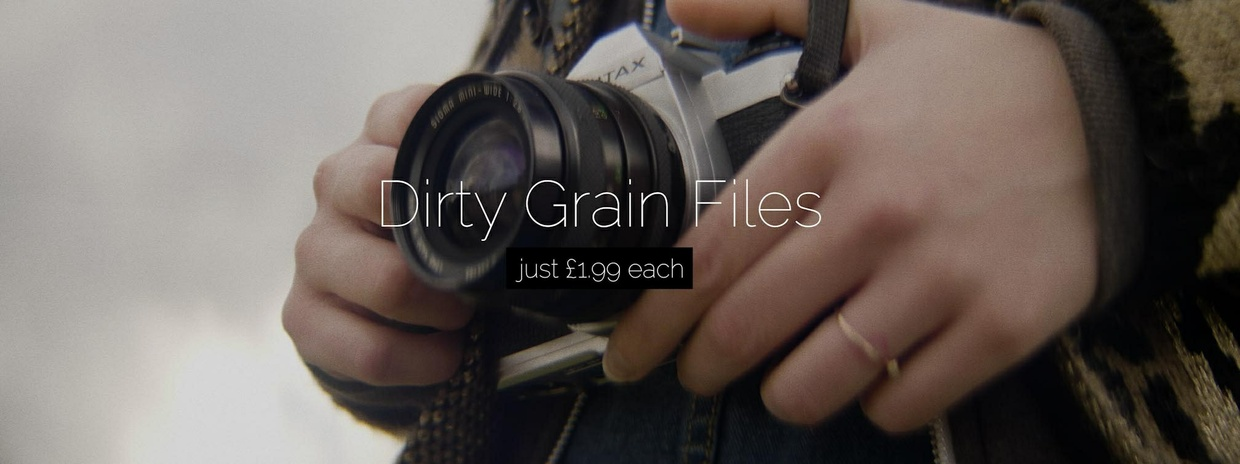 Dirty Mild Grain (film grain video file)