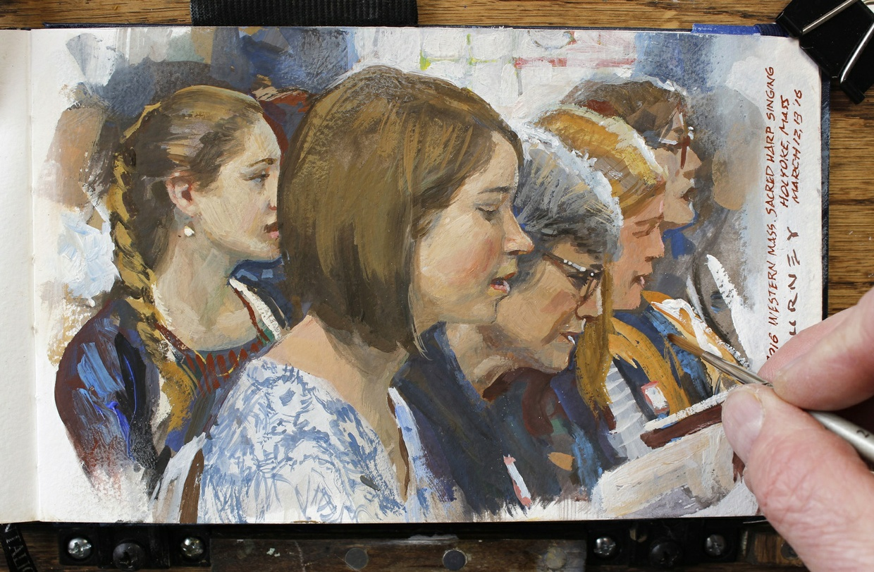 Portraits in the Wild: Painting People in Real Settings