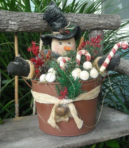 #310 Snowman Bucket e pattern