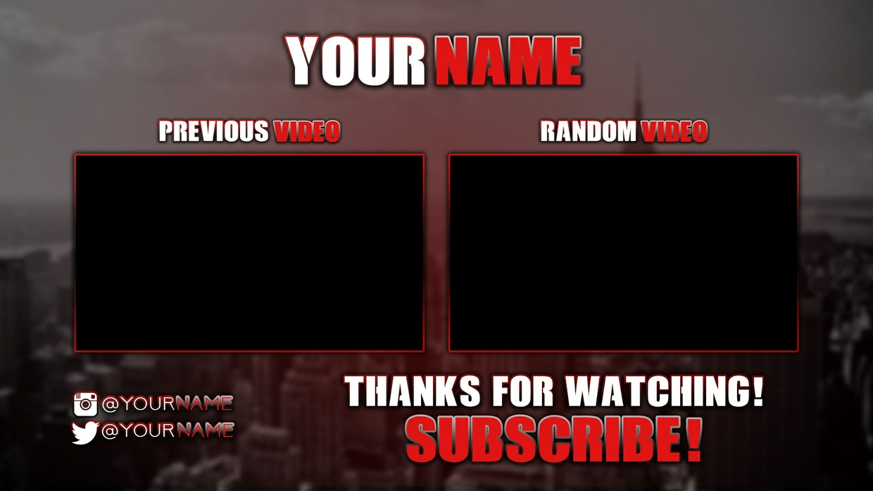 Pre made youtube outro template psd savage designs sellfy pre made youtube outro template psd pronofoot35fo Choice Image