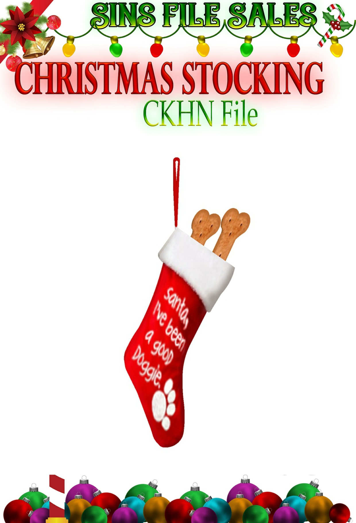 Christmas Puppy Stocking*CHKN