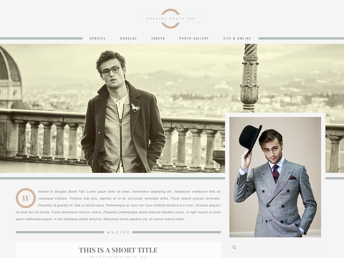 Premade 14: Billionaire (Responsive; Wordpress/Coppermine)