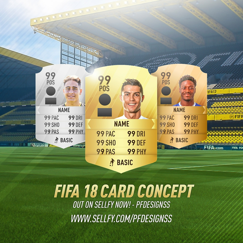 FIFA 18 RARE CARDS TEMPLATE (HD)