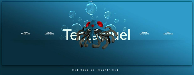 POKEMON GO: Tentacruel Twitter Header Template (PSD)