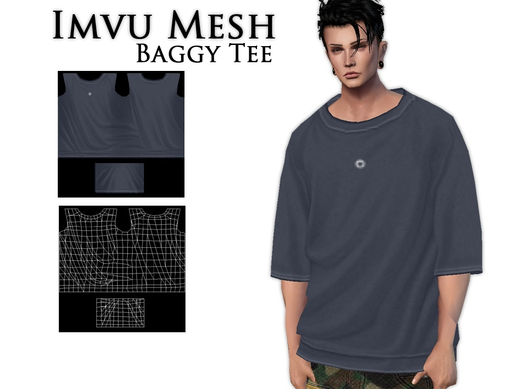 IMVU Mesh - Tops - Baggy Tee