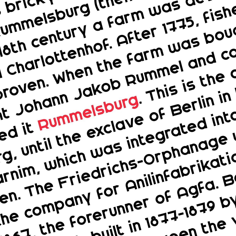 Rummelsburg Font Regular