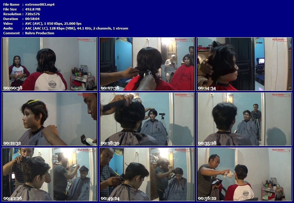 "EXTREME#003 ""A Woman Cuts Her Hair because of Husband's Request (Part.1)"""