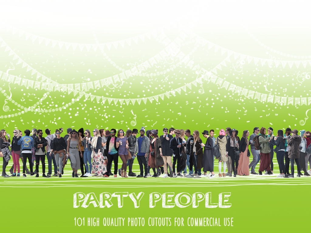 PARTY PEOPLE - 101 Photo Cutouts