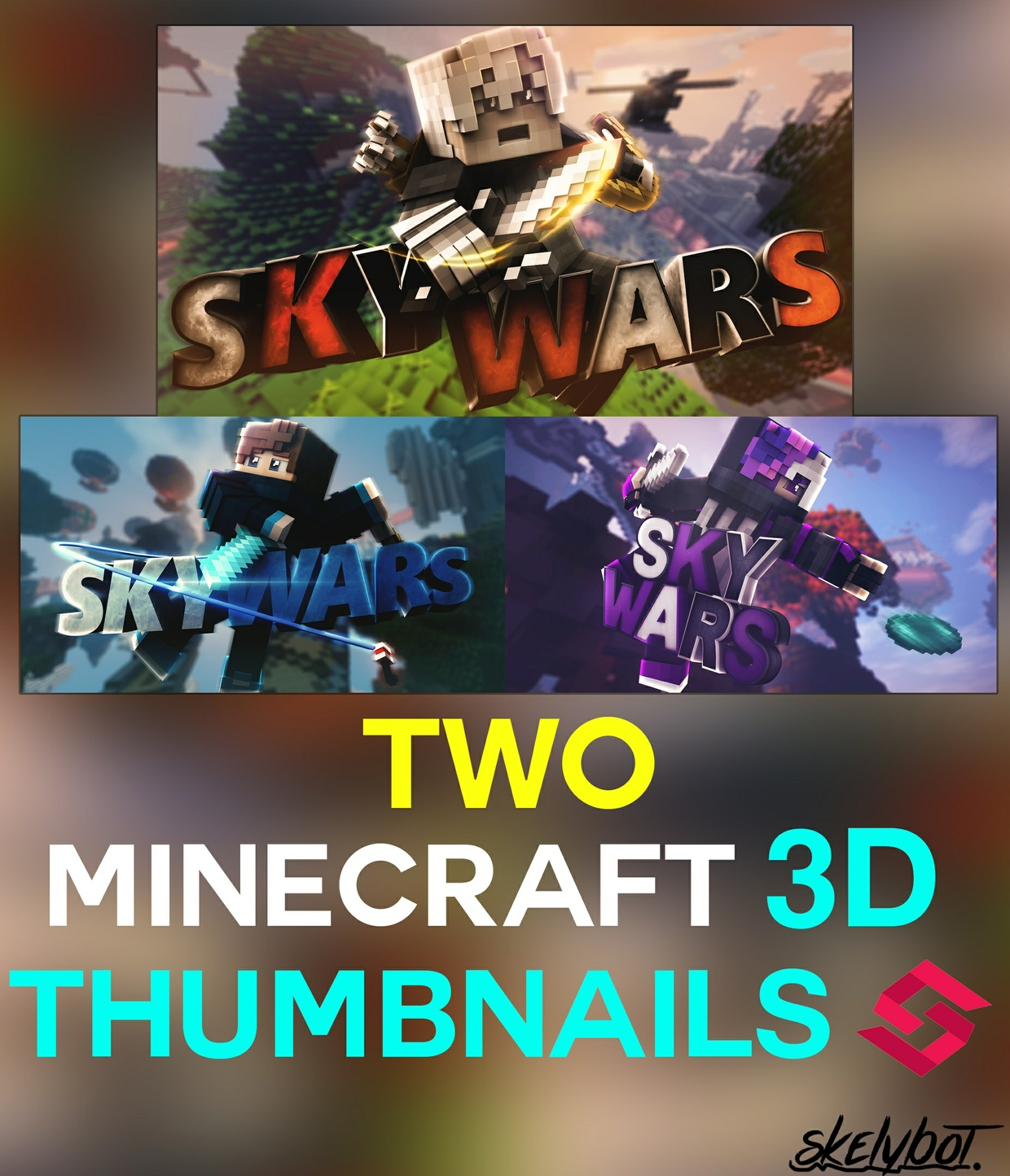 [Closed Forever] Two [2] Custom Thumbnails 3D!