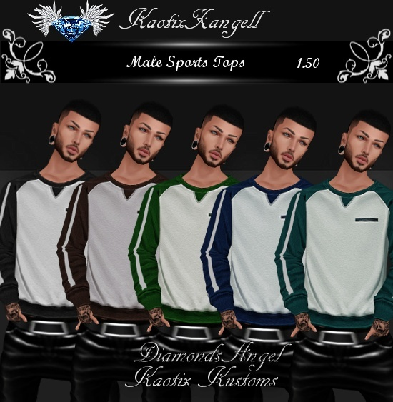 Male Sports Tops