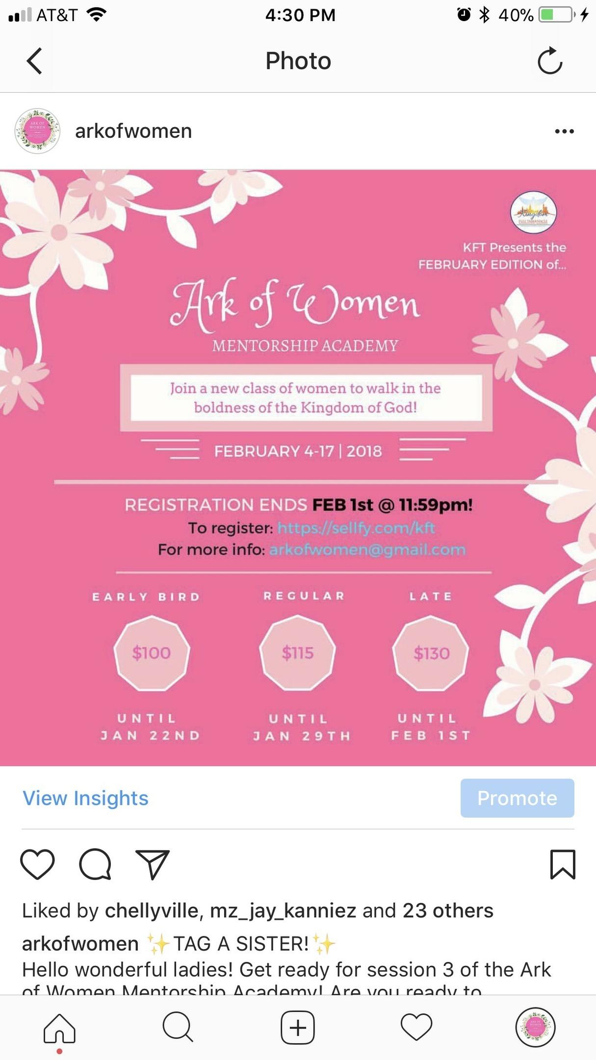 Ark of Women returning Members (Feb)
